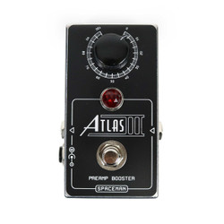 Spaceman Effects Atlas III Medium Gain Preamp Boost Pedal in Limited Edition Silver