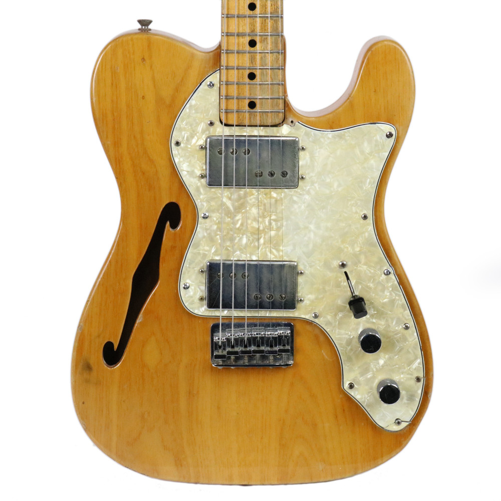 vintage 1972 fender telecaster tele thinline ii semi hollow body electric guitar. Black Bedroom Furniture Sets. Home Design Ideas