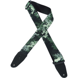 "Levy's 2"" Polyester Sub-Printed Sonic Art Strap Green Digital Camo Design"