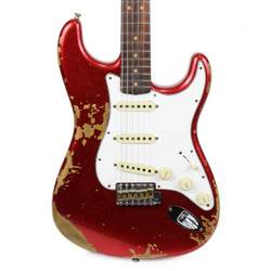 Fender Custom Shop '60s Stratocaster Super Faded Aged Heavy Relic in Red Sparkle