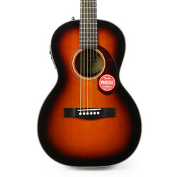 Fender CP-140SE Parlor Acoustic Electric in Sunburst with Case