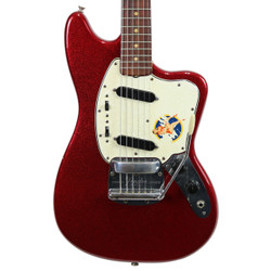 Vintage 1964 Fender Mustang Refinished Red Sparkle