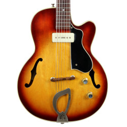 Vintage 1960 Guild M-65 Freshman 3/4 Electric Guitar Sunburst