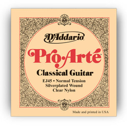 D'Addario EJ45 Pro Arte Classical Strings Normal Tension Clear Nylon Guitar Strings