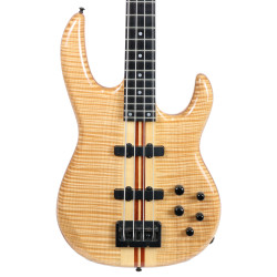 Used Carvin Electric Bass Guitar Natural Flame Finish