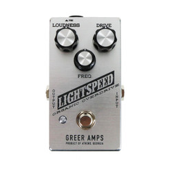 Greer Amps Lightspeed Organic Overdrive Pedal in Silver