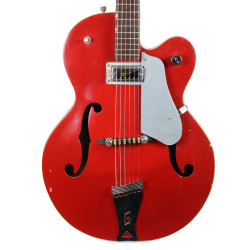 Vintage 1960's Gretsch 6125 Single Anniversary Electric Guitar Red