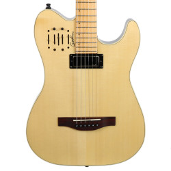 2017 Godin Acousticaster Acoustic Electric Guitar Natural Finish