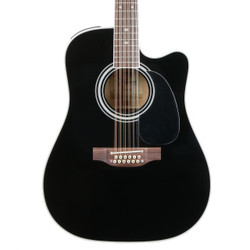 Takamine EF381SC 12 String Dreadnought Acoustic Electric in Black