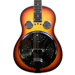 2012 National Model D Round Neck Resonator Guitar Sunburst Finish