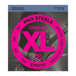 D'Addario EPS170 Pro Steels Light Long Scale Bass Strings .045-.100