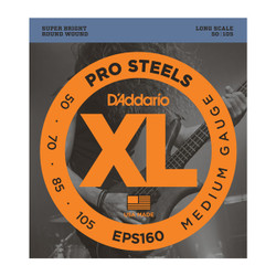 D'Addario EPS160 ProSteels Long Scale Medium Bass Strings .050-.105
