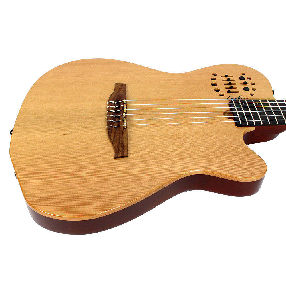 brand new godin multiac acs sa nylon string acoustic electric guitar natural ebay. Black Bedroom Furniture Sets. Home Design Ideas