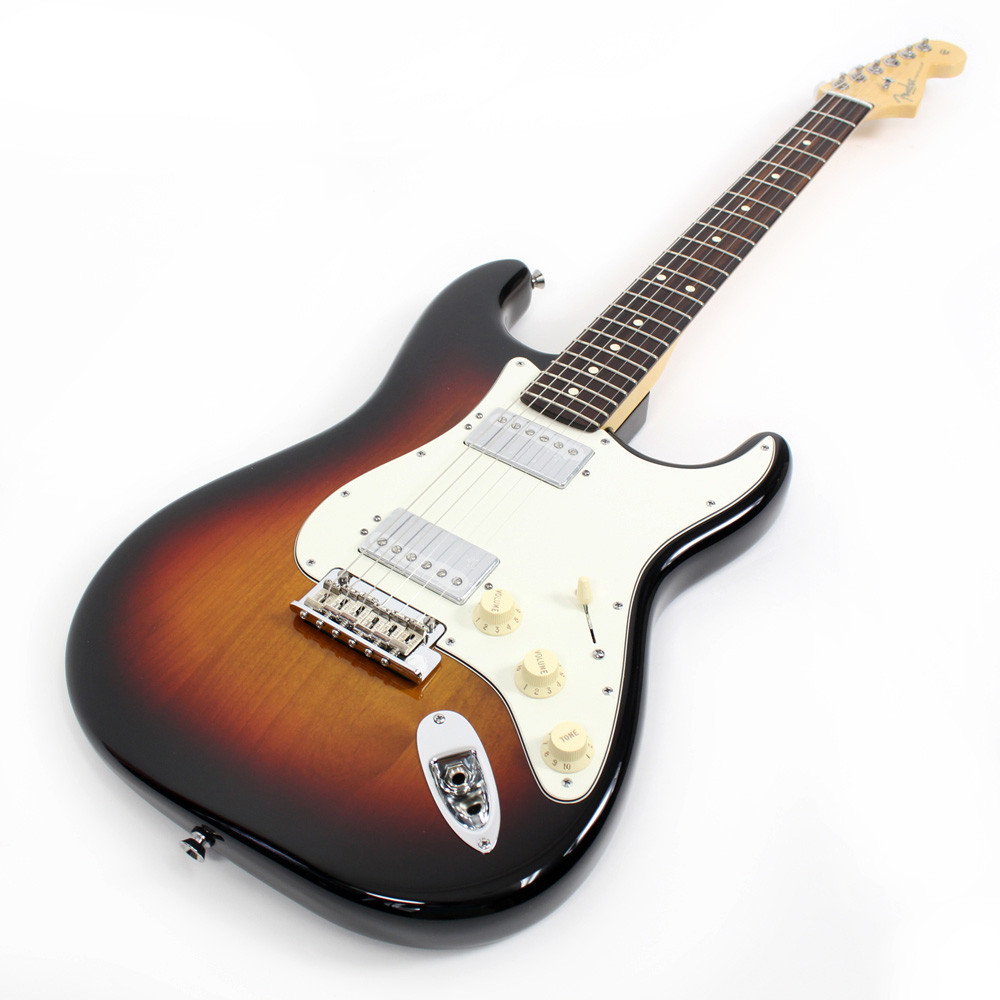 used fender american standard stratocaster hh 3 tone sunburst strat 3ts ebay. Black Bedroom Furniture Sets. Home Design Ideas
