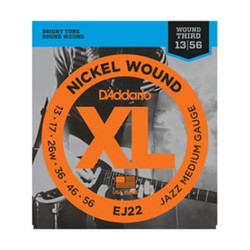 D'Addario EJ22 Nickel Jazz Medium Electric Guitar Strings .013-.056