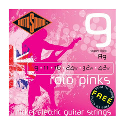 Rotosound R9 Roto Pinks Nickel Electric Guitar Strings .009-.042