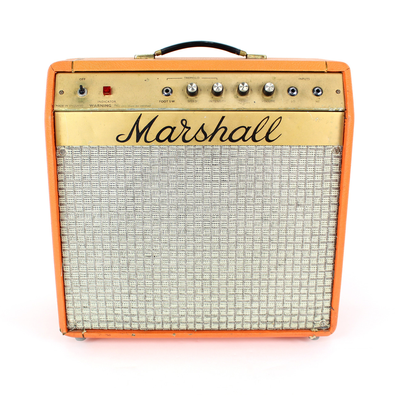 vintage 1973 marshall mercury model 2060 5w 1x12 hybrid tube combo amp cream city music. Black Bedroom Furniture Sets. Home Design Ideas