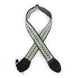 "Souldier ""Diamond"" 2"" Guitar Strap in Forest Green with Black Ends"