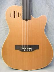 Godin A11 Glissentar 11-String Fretless Acoustic-Electric Guitar Natural Satin B-Stock