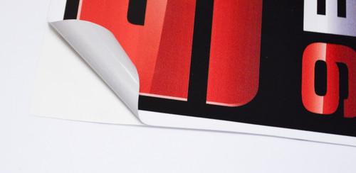 Adhesive Back Vinyl Decal Custom Printing