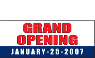 Grand Opening Vinyl Banner Sign Style 1100