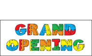 Grand Opening Vinyl Banner Sign Style 1200