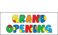 Grand Opening Vinyl Banner Sign Style 1300