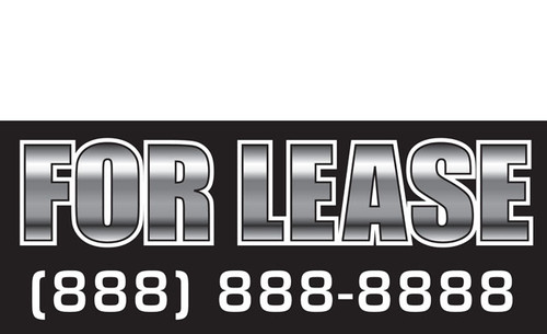 For Lease Banner Sign Vinyl Style 1200