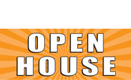 Open House Vinyl Banner Signs Style 1000