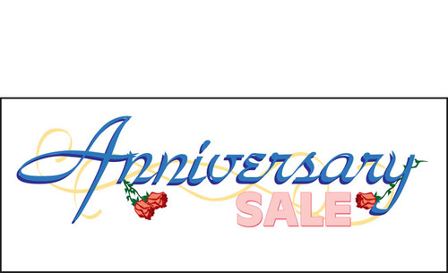 Anniversary Sale Banner Sign Style 1300