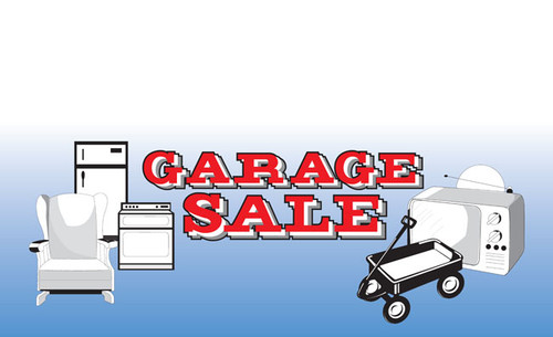 Garage Sale Vinyl Banner Sign Style 1700
