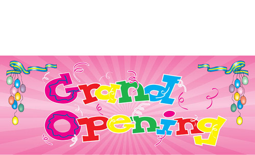 Grand Opening Banner Full Color Design by DPS Banners