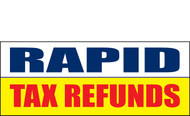 Income Tax Refund Banner Vinyl Sign 1000