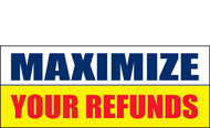 Income Tax Refund Banner Vinyl Sign 1100