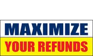 Income Tax Refund Banner Vinyl Sign 1100