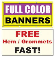 4 x 12 vinyl banner