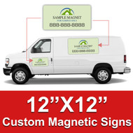 12x12 Car Magnets Custom Magnetic Signs