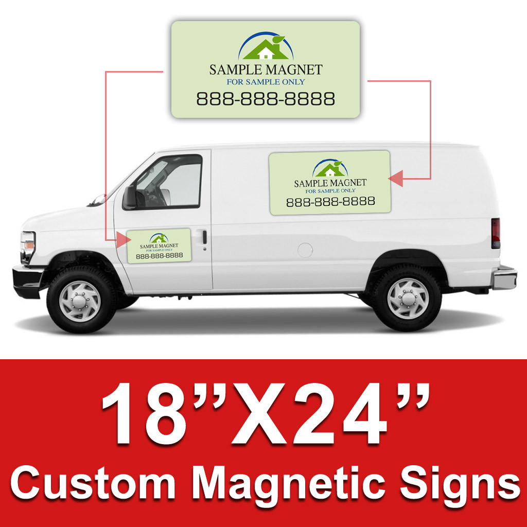 18x24 Inch Car Magnets Custom Magnetic Signs Dpsbanners Com