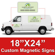 18x24 Car Magnets Custom Magnetic Signs