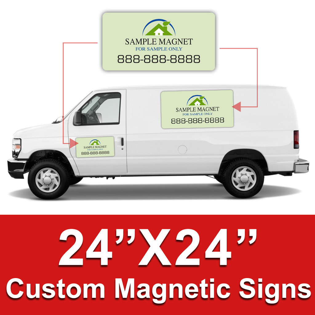 24x24 Inch Car Magnets Custom Magnetic Signs Dpsbanners Com