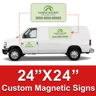 24x24 Car Magnets Custom Magnetic Signs