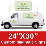 24x30 Car Magnets Custom Magnetic Signs