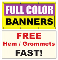 6x30 Vinyl Banner Custom Printed