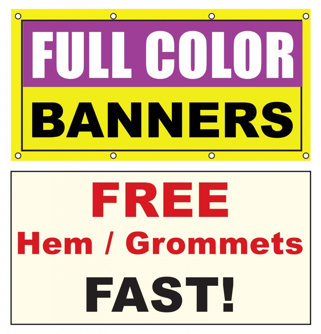 7x2 ft Vinyl Banner Custom Printed | DPSBanners com