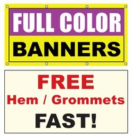 8x18 Vinyl Banner Custom Printed