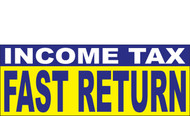 Income Tax Banners-Vinyl-Outdoor 1000