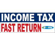 Income Tax Banners-Vinyl-Outdoor 1500
