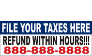 Income Tax Banners-Vinyl-Outdoor 2100