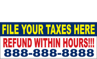 Income Tax Banners-Vinyl-Outdoor 2200