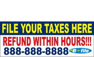 Income Tax Banners-Vinyl-Outdoor 2300